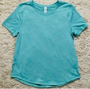 LULULEMON Silverescent Short Sleeve Top Size 6